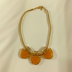 Fossil Orange Stone Necklace